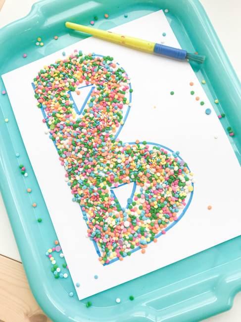 letter B sprinkle sweep