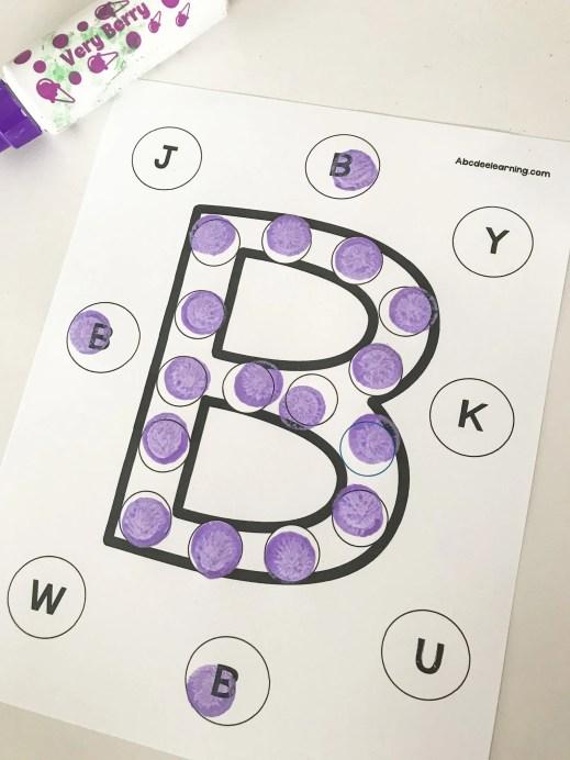 do a dot letter B