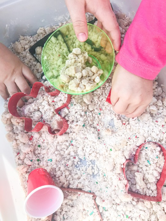 christmas cookie cloud dough