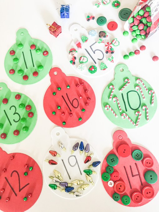ornament counting mats