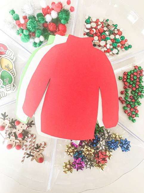 ugly sweater tray play