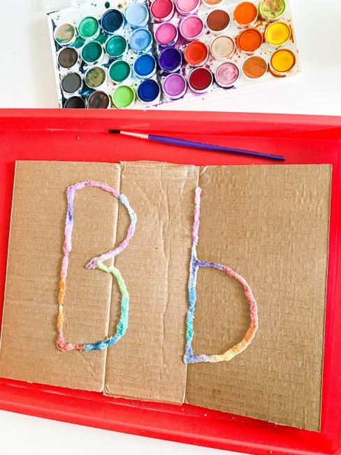 salt painting letter B