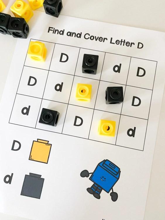 letter d coding color