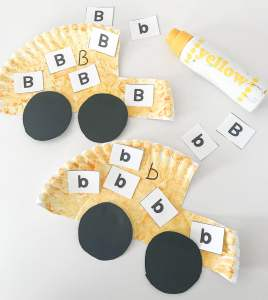 letter B sorting activity cards
