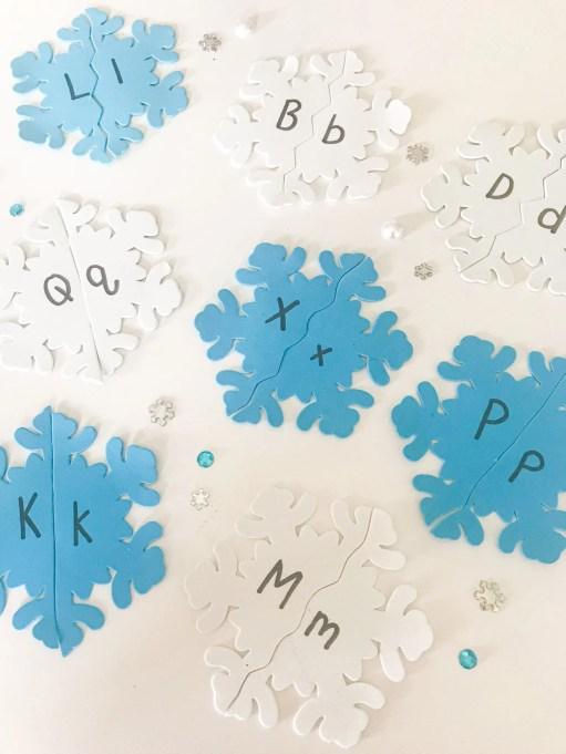 snowflake letter puzzles