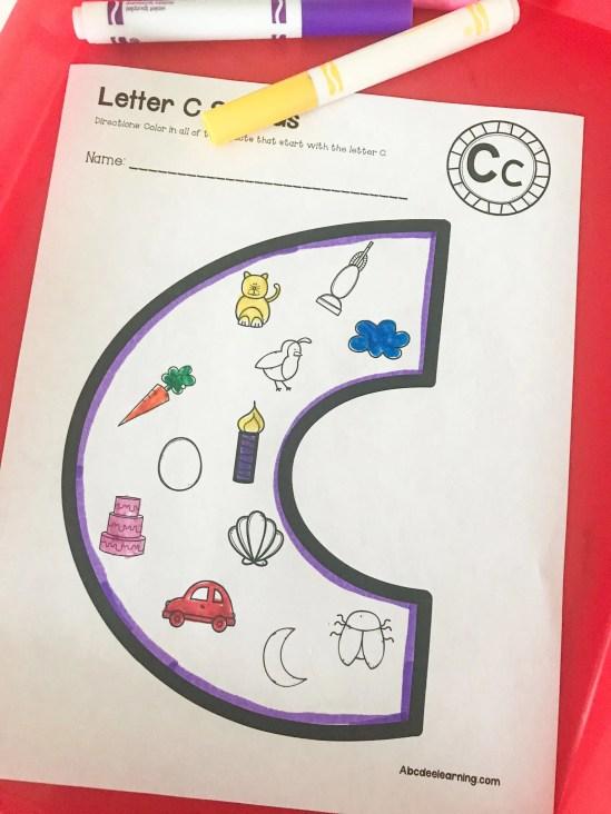 beginning letter C