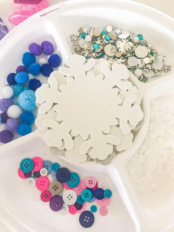 snowflake tray play