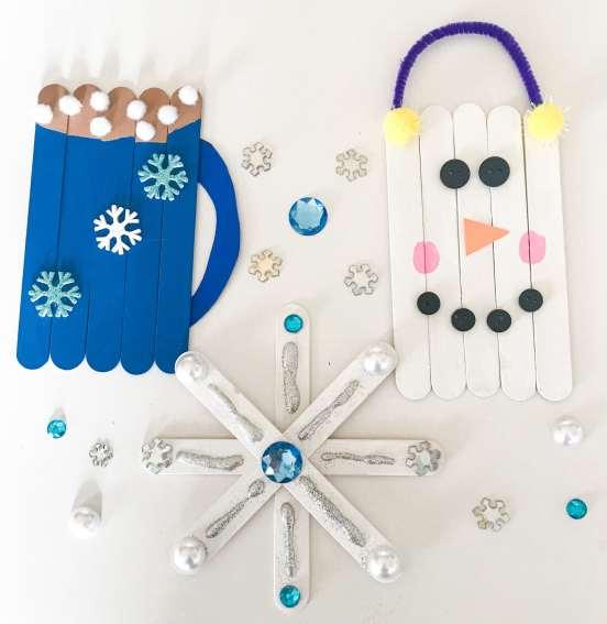 winter popsicle sticks