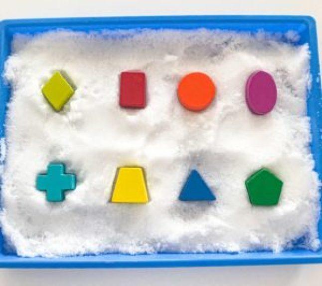 shape snow puzzle