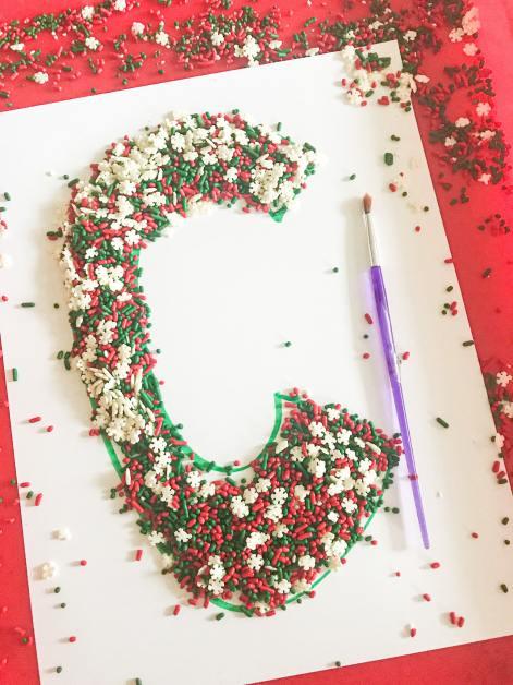 sprinkle sweep letter C