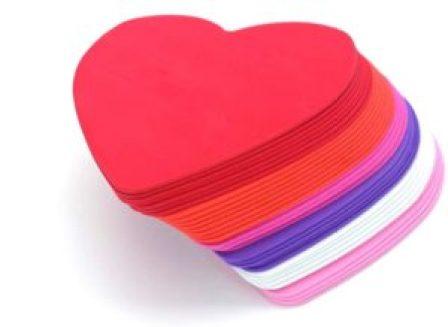 foam heart shapes