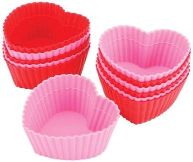 heart baking cups