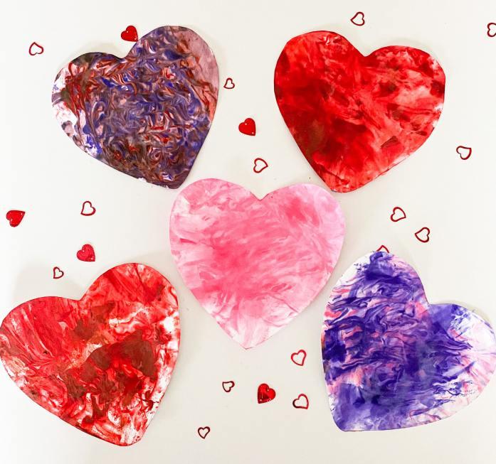 marbled valentine craft