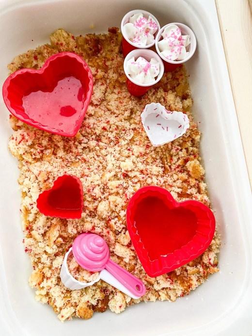 valentine sensory play