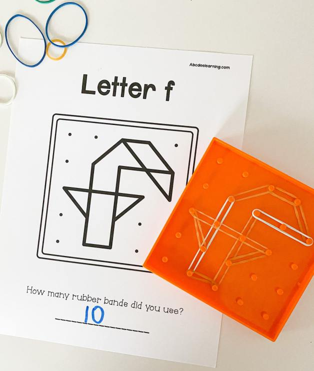 letter f geoboards
