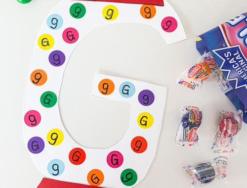 gum ball craft letter g