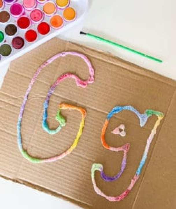 letter g salt painting