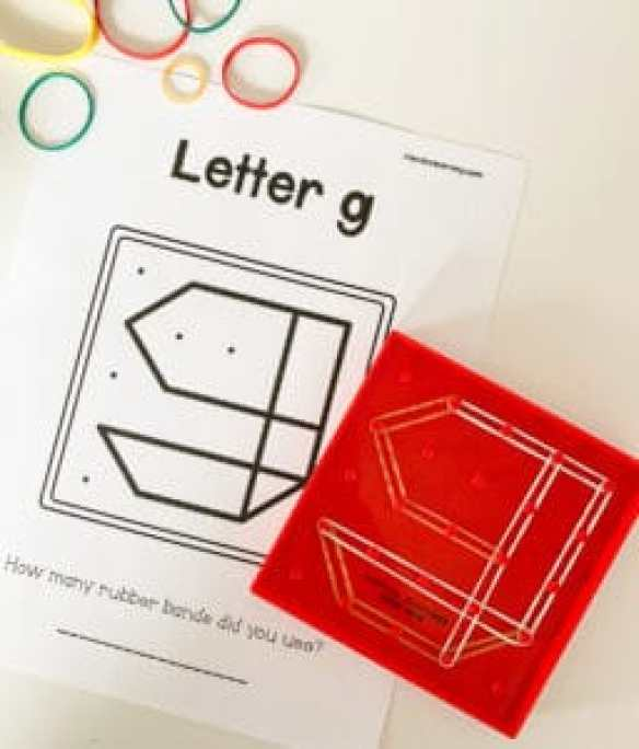 letter g geoboard