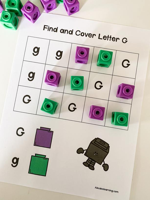 letter g color coding blocks