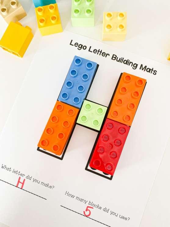 lego letter building