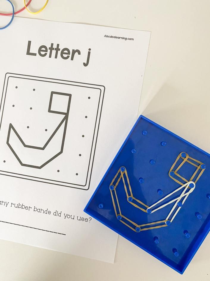 geoboard letter j