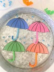umbrella fine motor activity