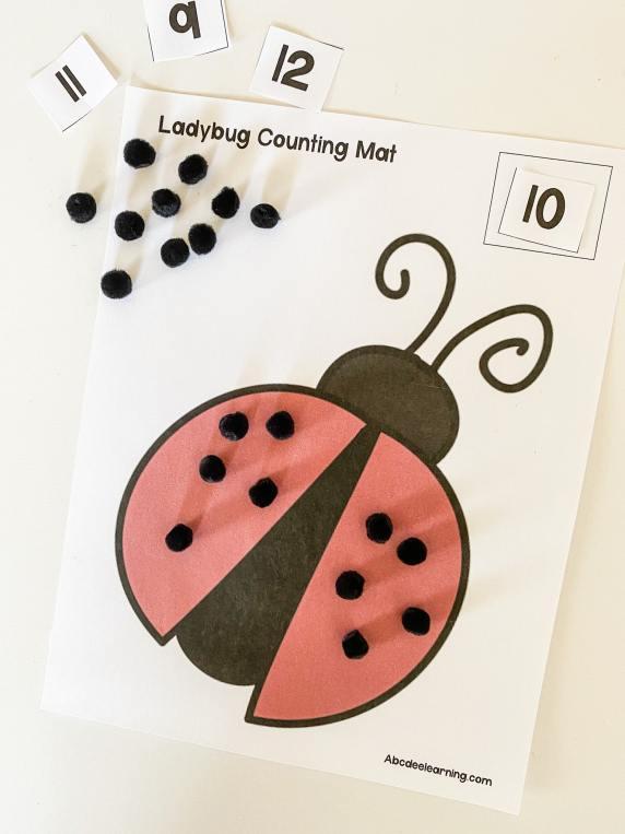 ladybug counting sheet