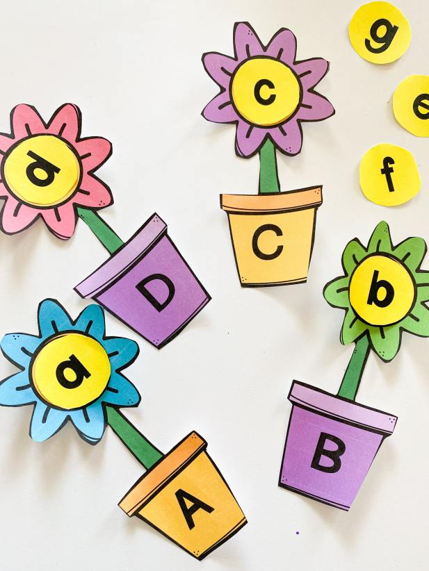 flower alphabet puzzles
