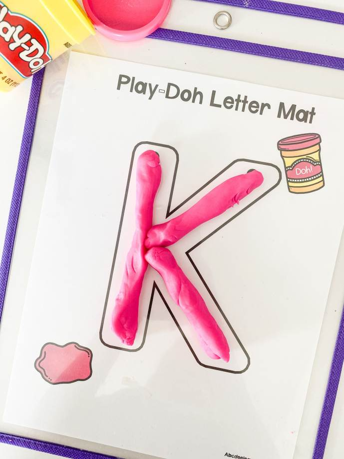 letter K play doh letters