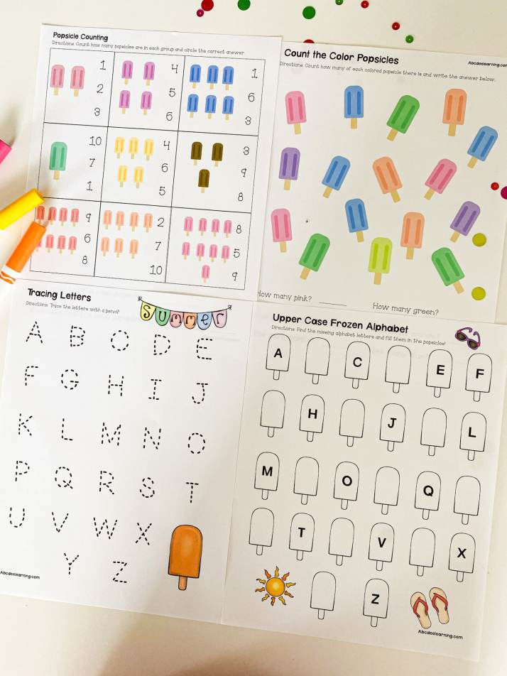 popsicle learning pack
