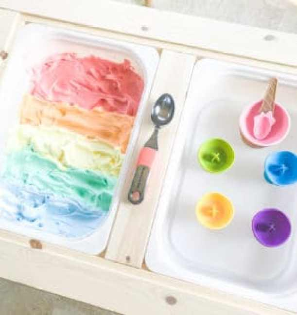 rainbow icecream sensory