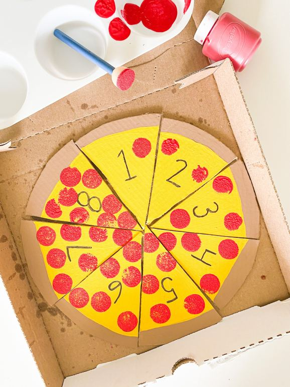 pizza counting craft