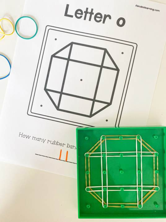 letter o geoboards