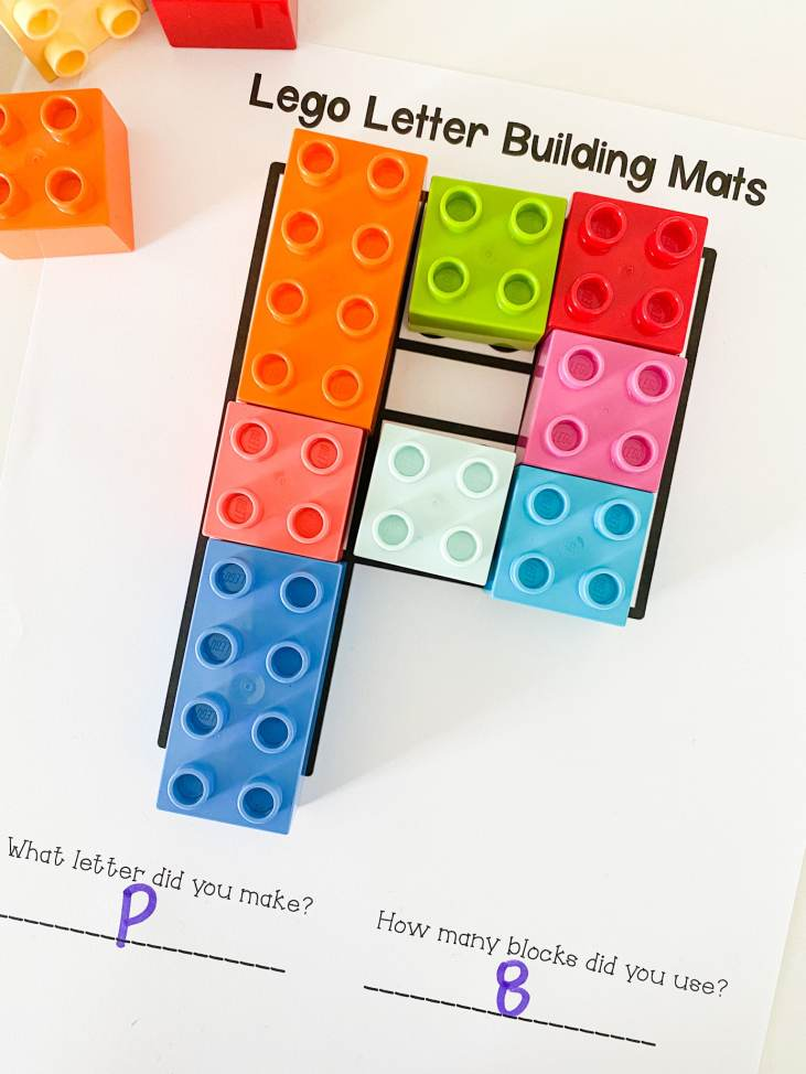 letter p lego building
