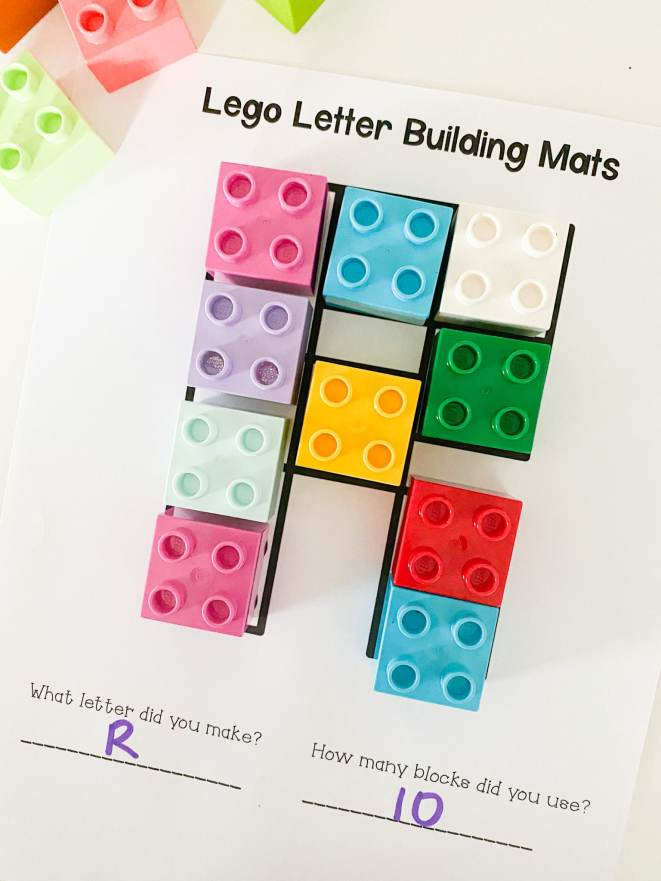 Letter R LEGO activity