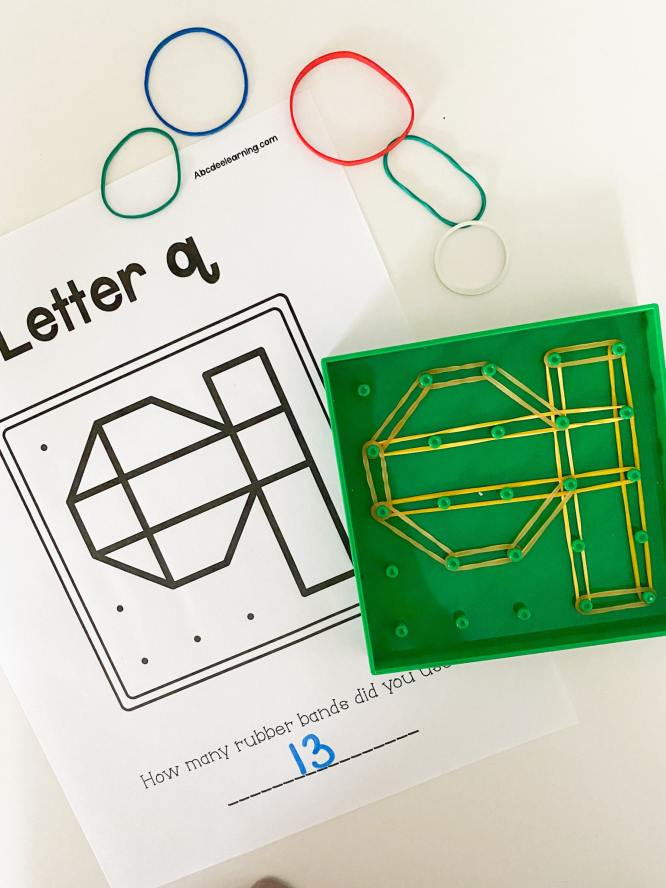 letter q geoboard letters