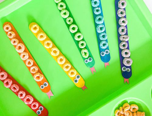 letter s snake color matching craft