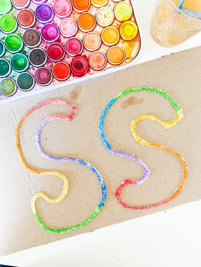 letter s salt painting
