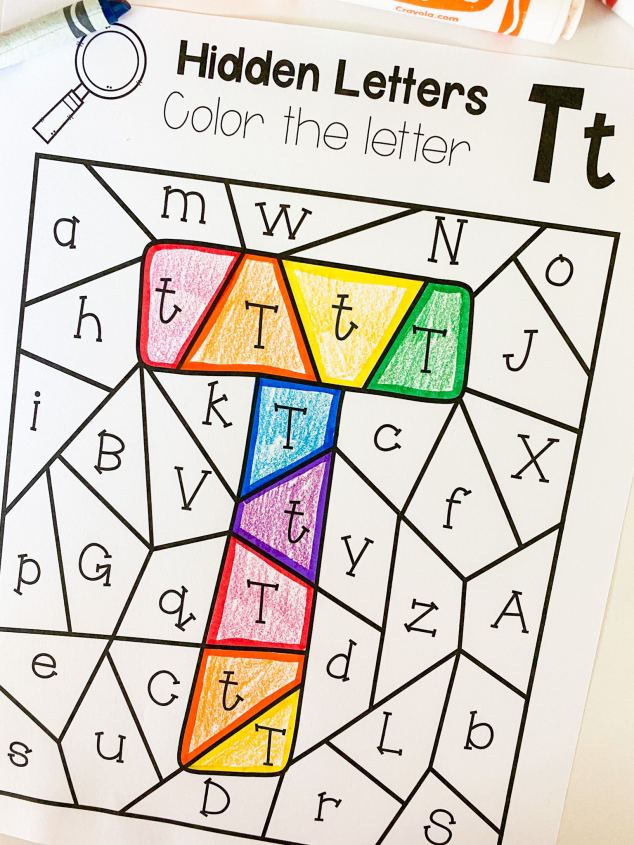 letter t coloring printable