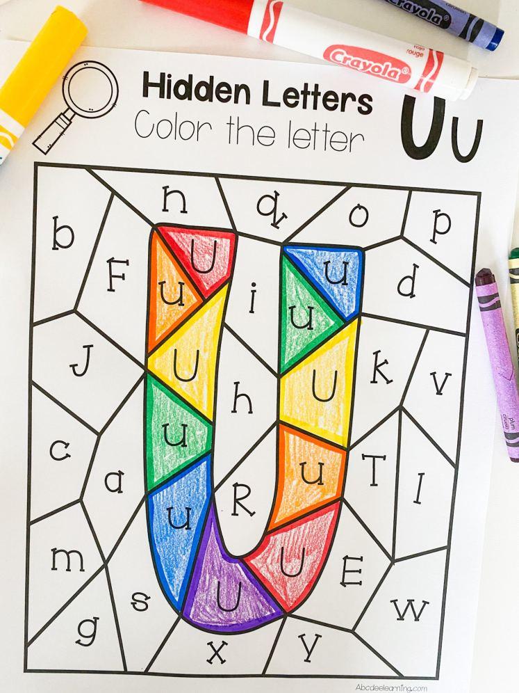 letter u hidden letter search