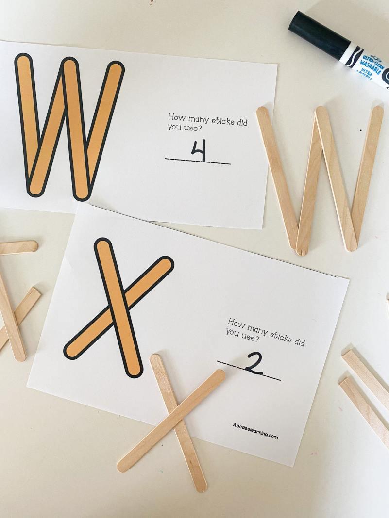 letter w popsicle stick building
