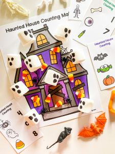 haunted house counting mat
