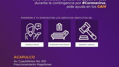 Photo of En Guerrero, los Centros de Atención a Víctimas de Violencia contra las Mujeres, permanecen abiertos durante contingencia por #COVID-19