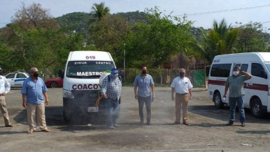 Photo of Transporte del Estado sanitiza unidades de Zihuatanejo, Petatlán y La Unión