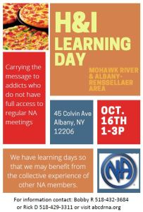 H & I Learning Day @ CDRC   Albany   New York   United States