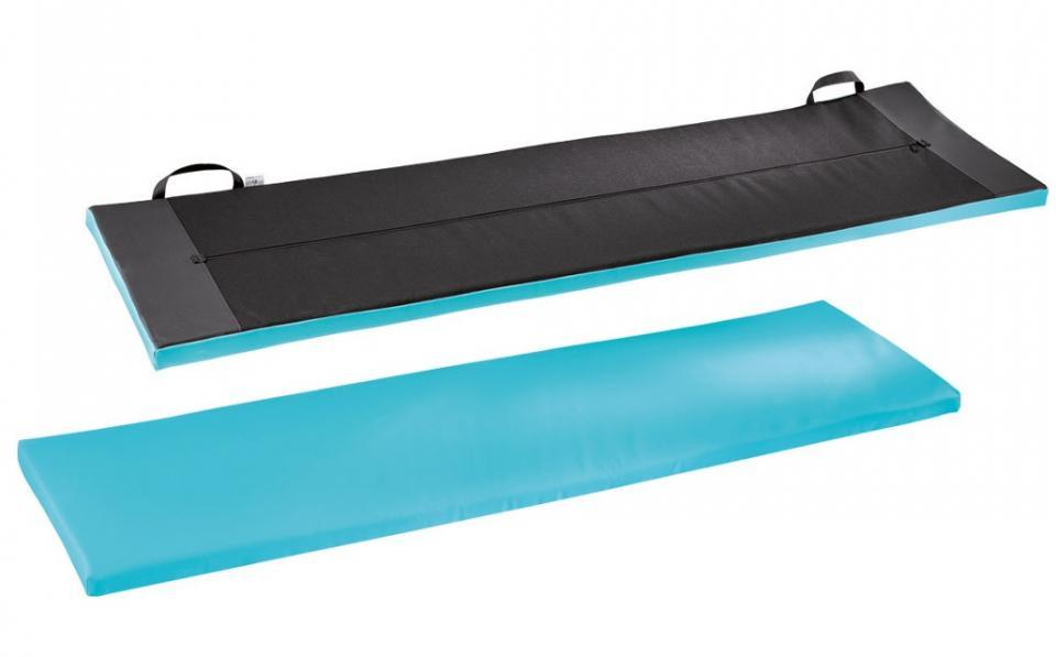 Yoga fitness tapis tapis gymnastique tapis pilates 185x60x1,0cm tapis sol bleu