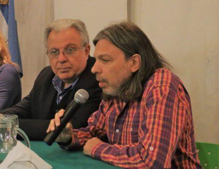 Daniel Ricci, Secretario General de Aduba junto a Alberto Barbieri, Rector de la UBA