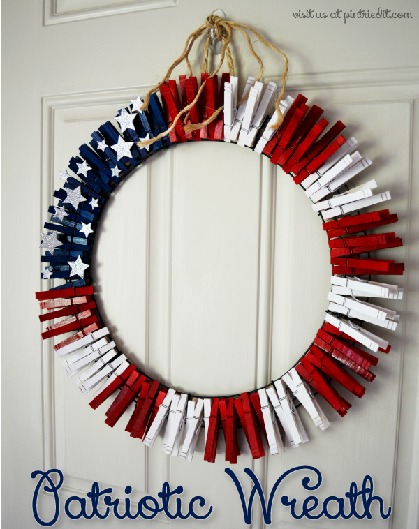 Patriotic front door dec