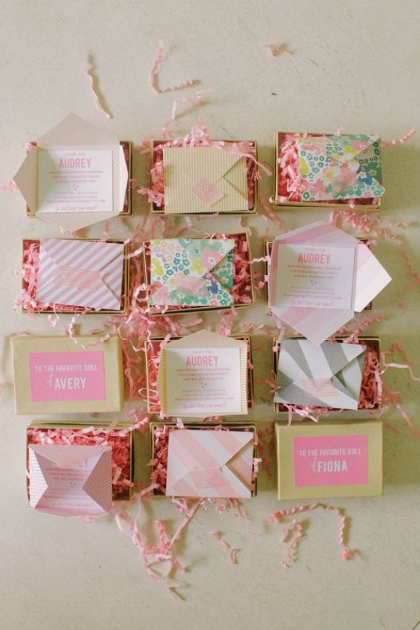 DIY Mini Invitations