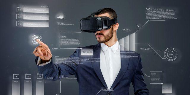 A man using virtual reality - tech trends
